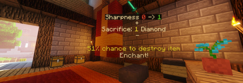 Allows enchantment of items beyond 5 sharpness